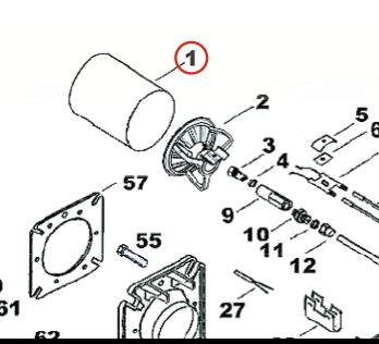 Жаровая труба (сопло) горелки Kroll 028231